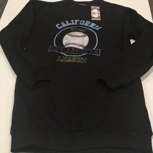 Baseball Print sweatshirt dress. Small. NWT